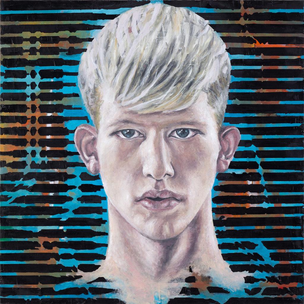 Boy On Motor – 70 x 70 cm – Oil on canvas – 2018
