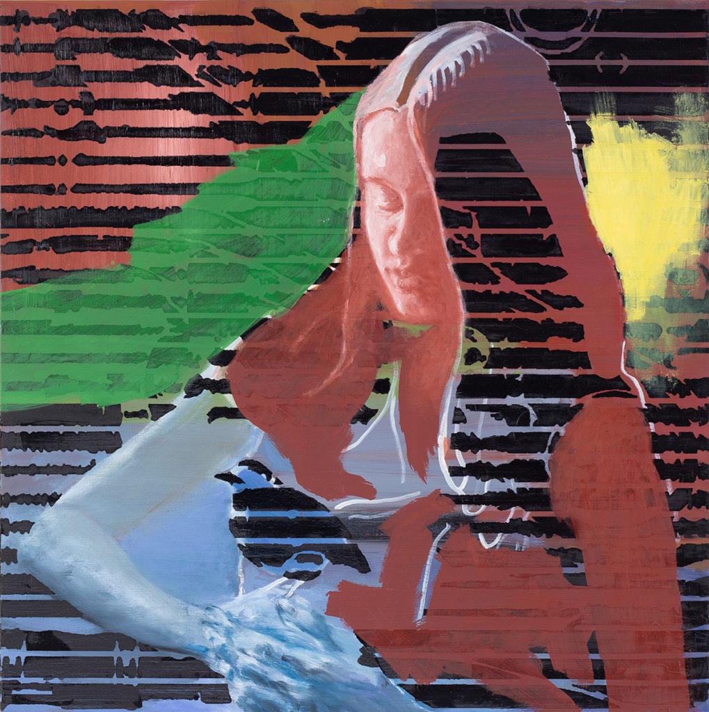 Girl With A Bird – 70 x 70 cm – Oil on canvas – 2019
