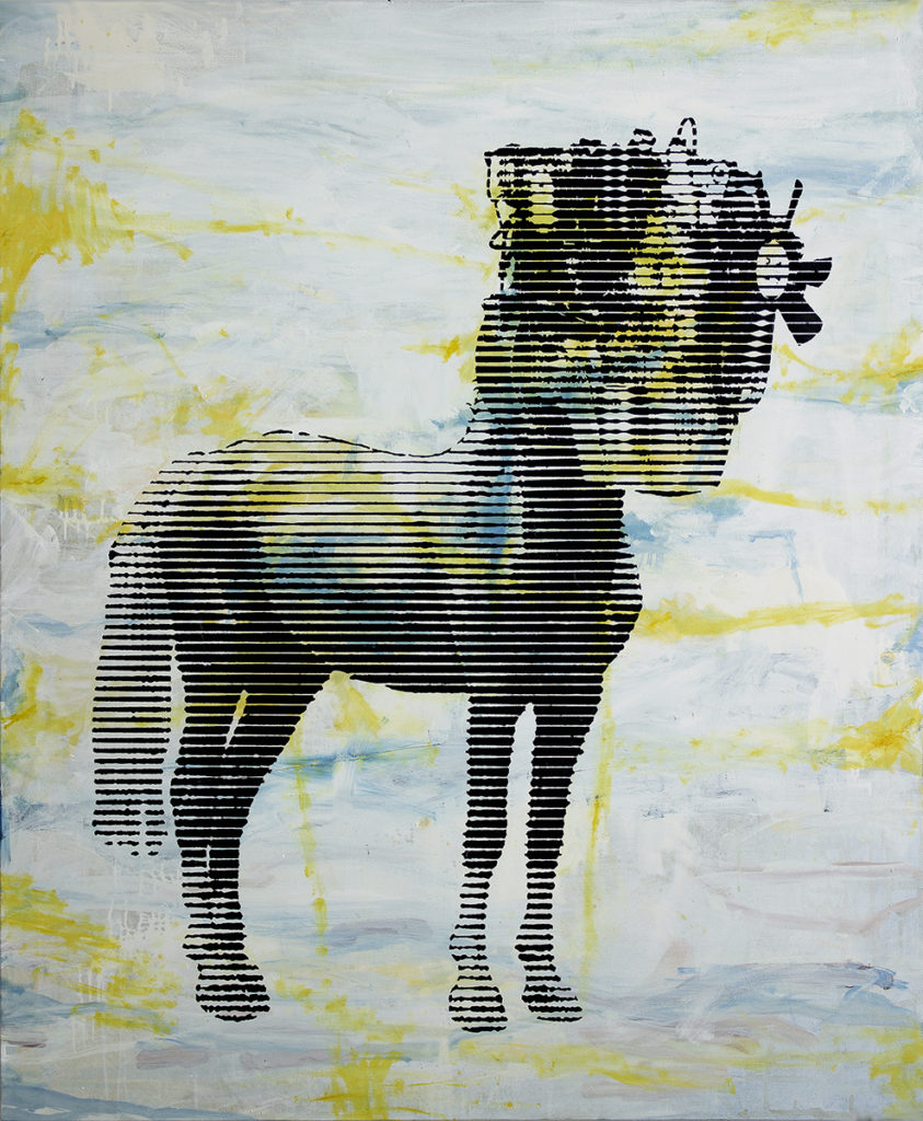 Horse With Motor – 120 x 100 cm – Oil, paint on canvas – 2019