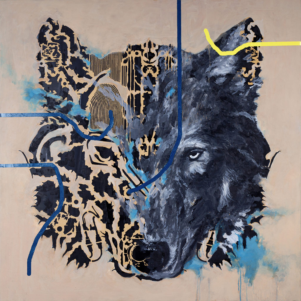 Wolf – 100 x 100 cm – Oil on canvas – 2020