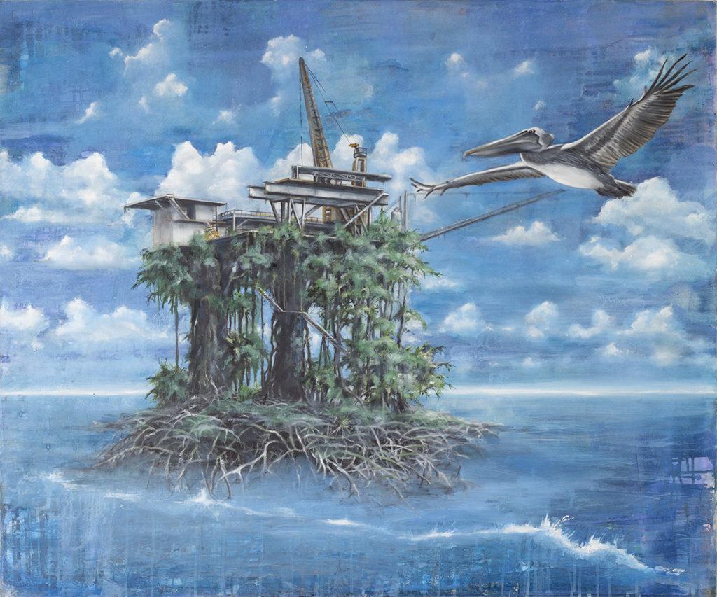 Pelikan – 100 x 120 cm – Oil on canvas – 2008
