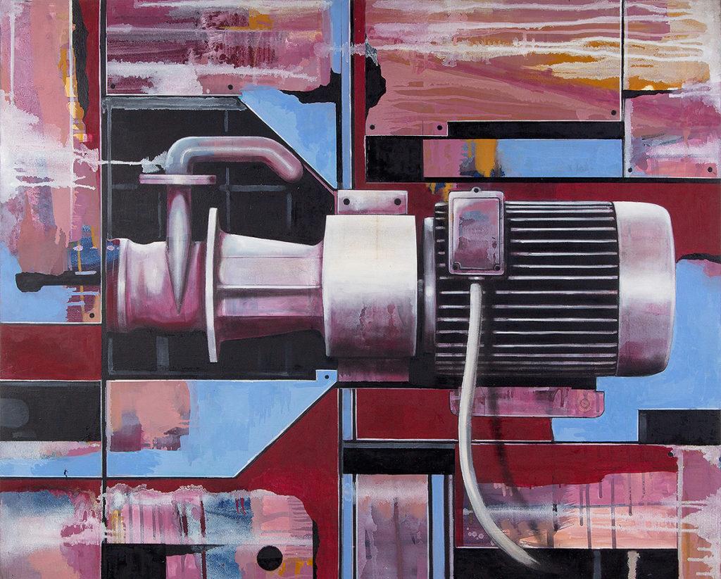 Pumpe – 100 x 120 cm – Oil, acrylic on canvas – 2009