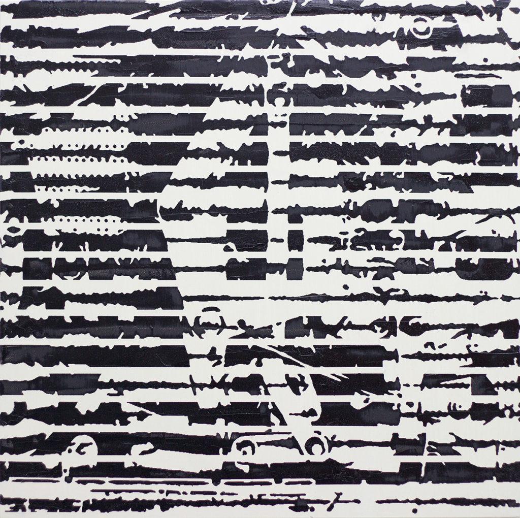 Rechenmaschine – 70 x 70 cm – Oil on canvas – 2019