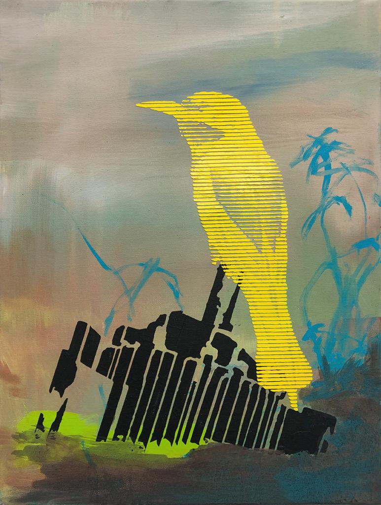 Vogel Gelb – 40 x 30 cm – Oil on canvas – 2019