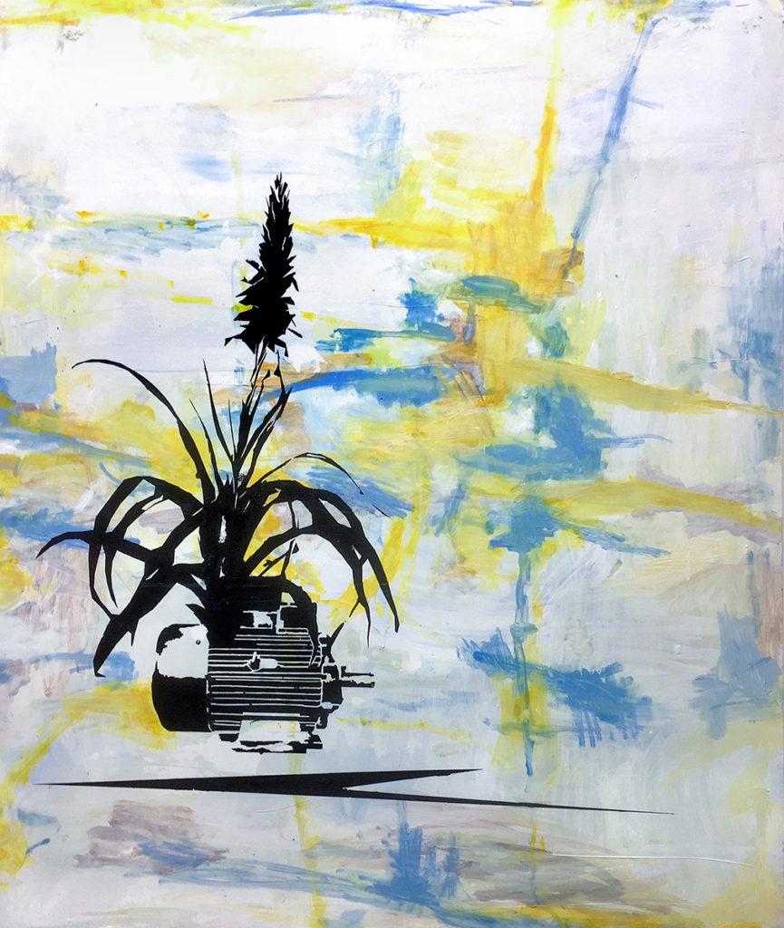 Bracteose – 120 x 100 cm – Oil, paint on canvas – 2019