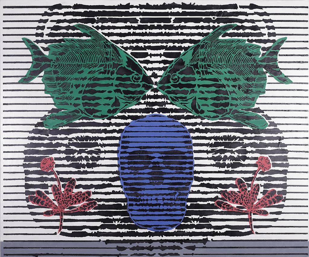 Reflexionen – 100 x120 cm – Oil on canvas – 2021